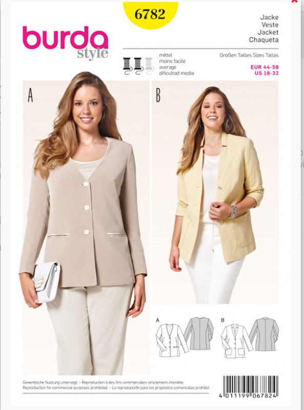 Burda 6782 pattern image
