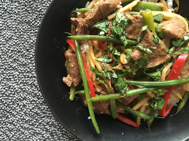 Thai Beef and Peanut Curry bowl