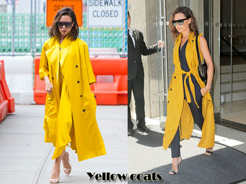 How to style yellow long coats