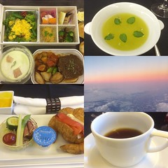 business class dinner & breakfast by yamada chikara for jal❤︎  #latergram #nofilter #yamadachikara #jal
