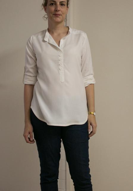 White rayon Mila shirt-6