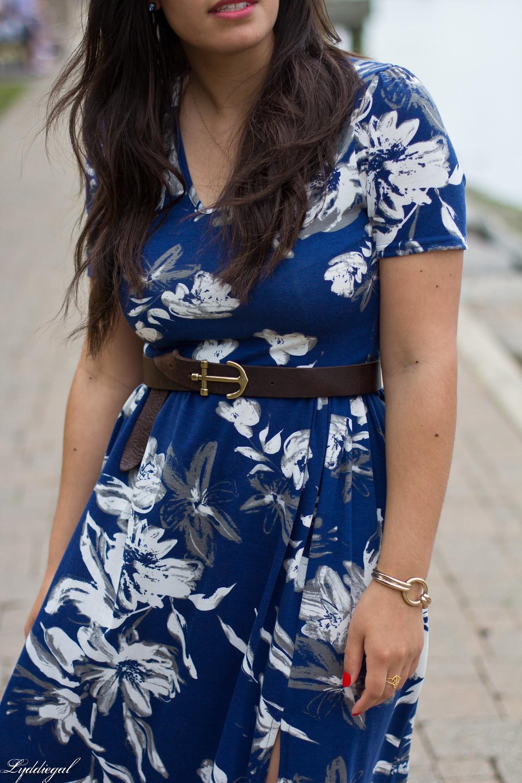 blue floral maxi dress, anchor belt, nude sandals-6.jpg
