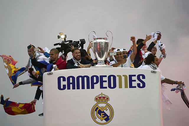 El Real Madrid celebra en la Cibeles la Champions League