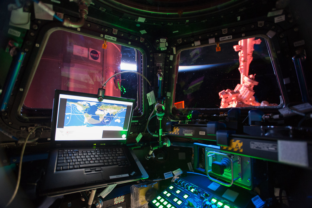 Interior of ISS Cupola