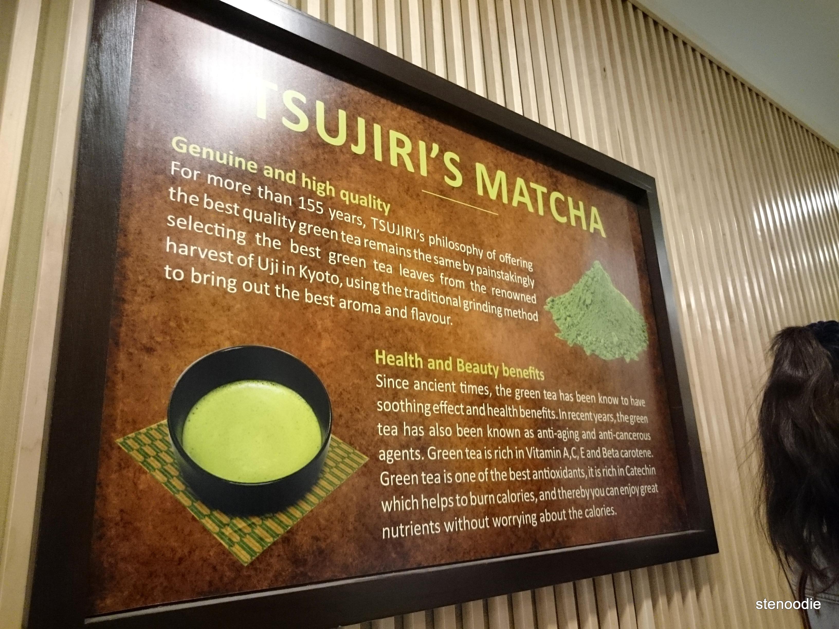 Tsujiri's matcha
