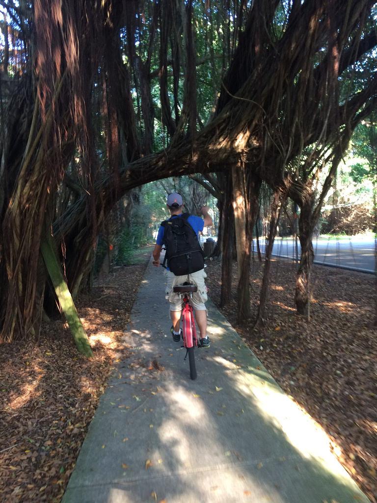 Biking at Banyan Road
