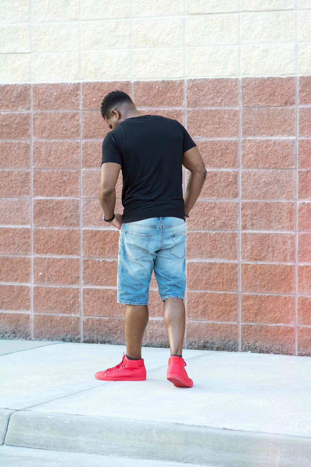 how to wear red trainers, louisiana men's fashion