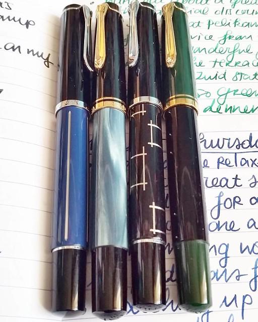 A flock of birds #pelikan #m200 #beingpelikan #Fpgeeks #fountainpennetwork #fountainpens #fountainpen #dailycarry #dailywriting #journal #gratitutejournal #handwriting #handwritten #specialedition