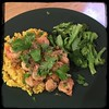 #Ginger #Cilantro #Shrimp #homemade #CucinaDelloZio - W/turmeric rice & broccoli