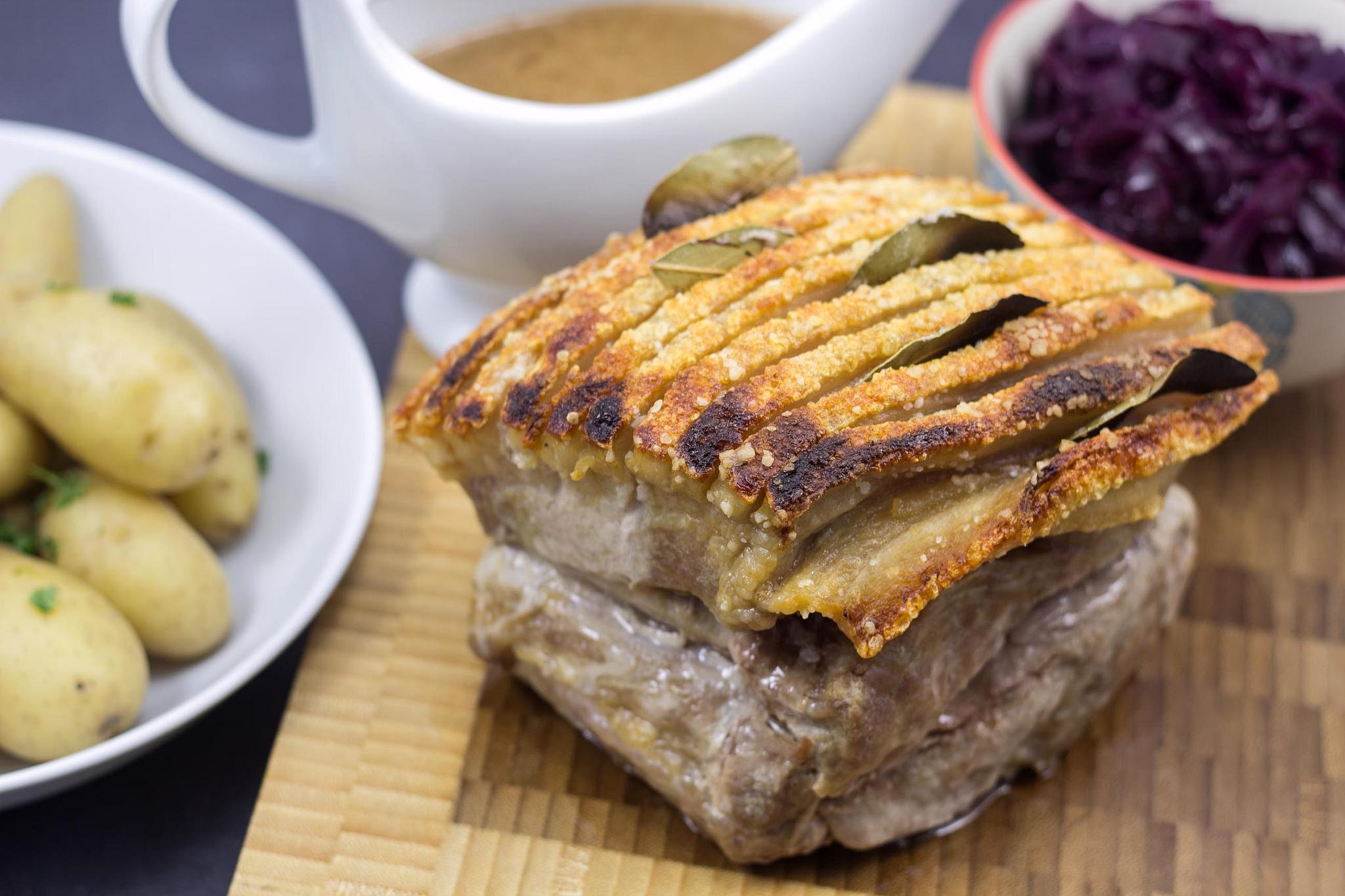 Danish Roast Pork with Crackling (Flæskesteg) | easy recipe