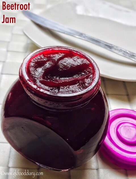 Beetroot Jam Recipe for Toddlers and Kids