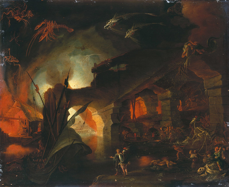 Jan Brueghel the Elder - Aeneas Works the Hell Fires from Sybil, 1590-1620