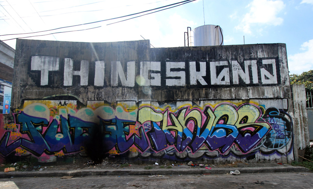 Aurora Boulevard graffiti