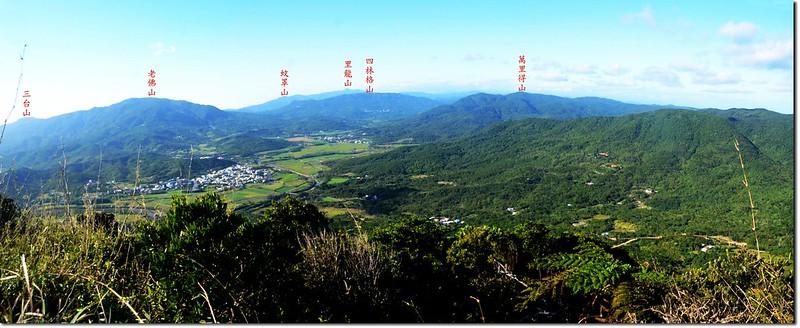 豬老束山山頂遠眺西北 1-1