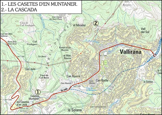 2016 Valliana - Les Casestes de Muntaner - Paret de Cal Beko - 01- Acceso 00