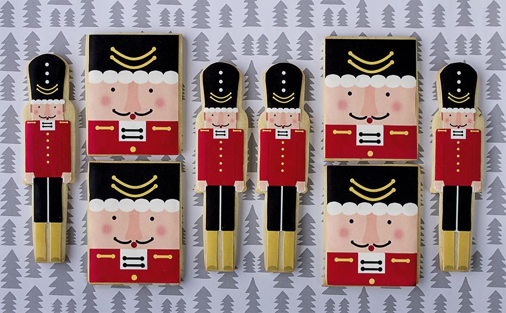 Galletas decoradas papel de azúcar Navidad