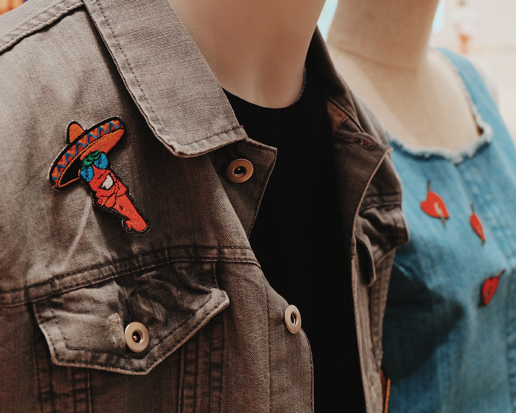 dyi patch denim jacket