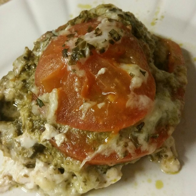 Foil Pesto Caprese Chicken