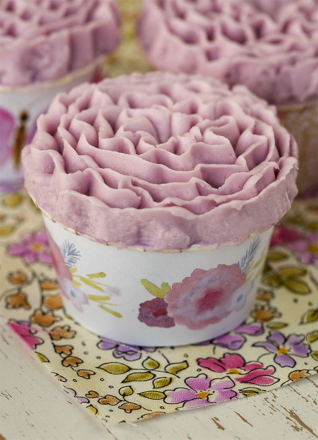 Cupcakes en forma de flor