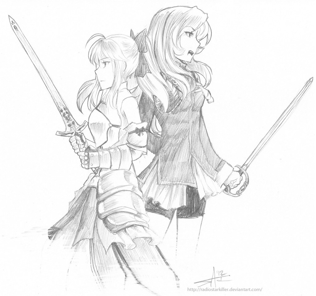 Saber Lily and Utena small