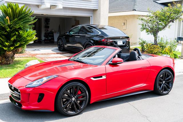 Tesla Model X and Jaguar F Type Photoshoot