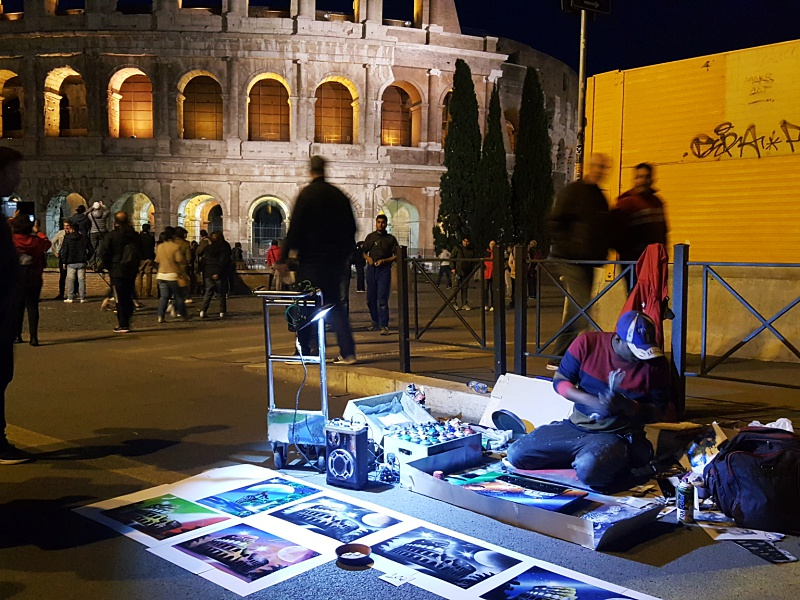 Rome street painters