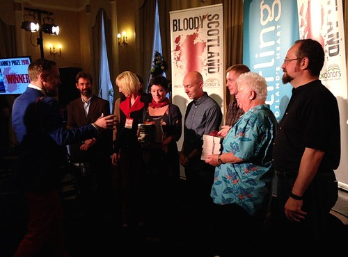 James Oswald, Lin Anderson, E S Thomson, Chris Brookmyre, Doug Johnstone, Val McDermid, Stuart MacBride