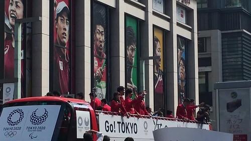 Medalists parade