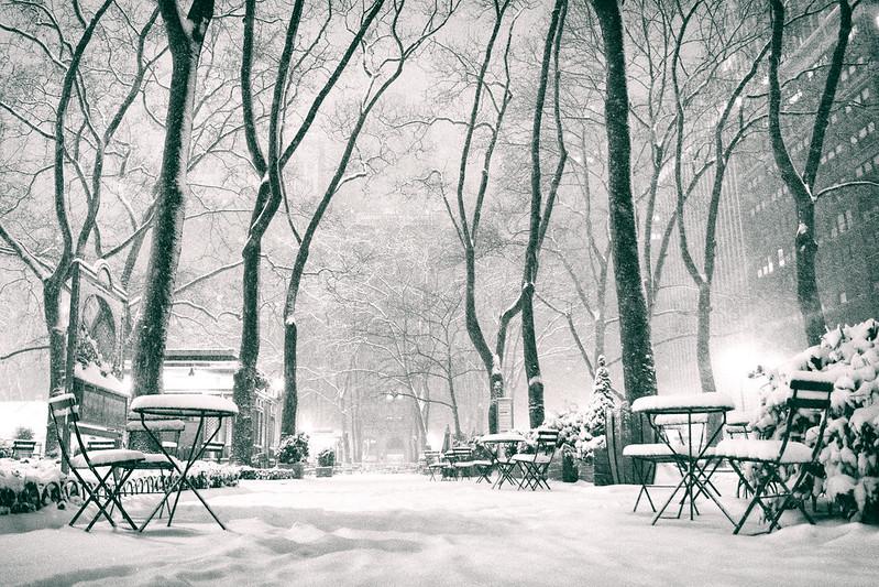 Vivienne Gucwa - New York Snow - Night In Bryant Park