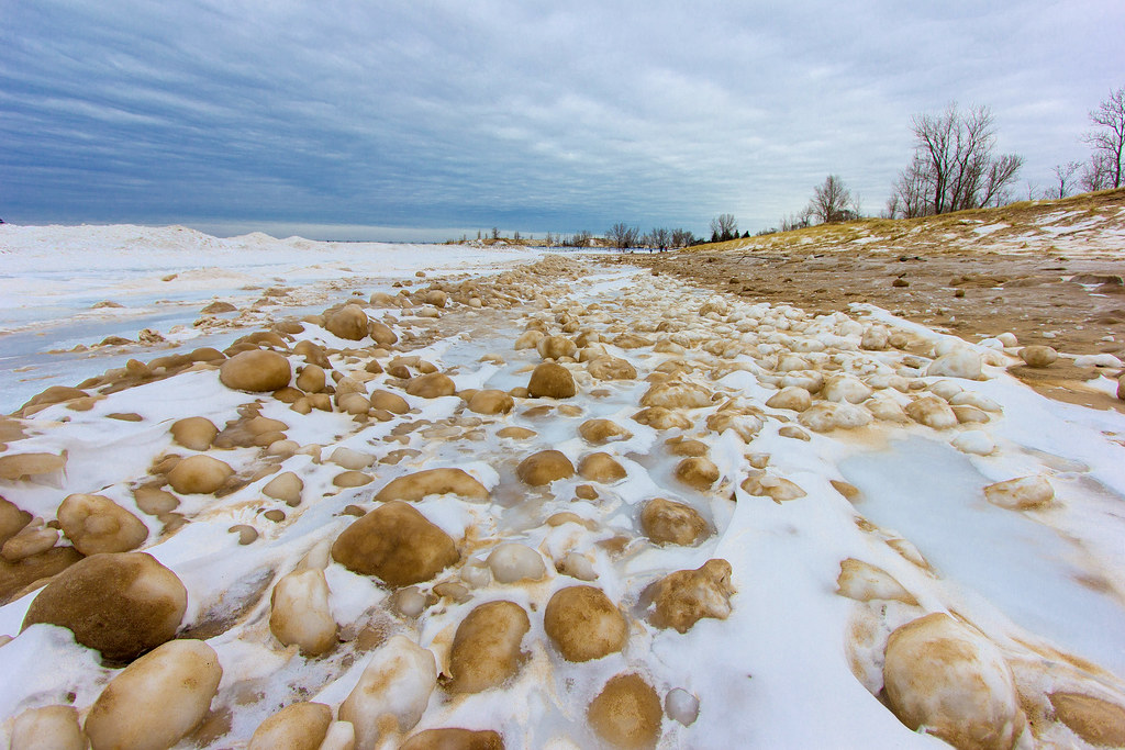 Ice Balls - Lake Michigan