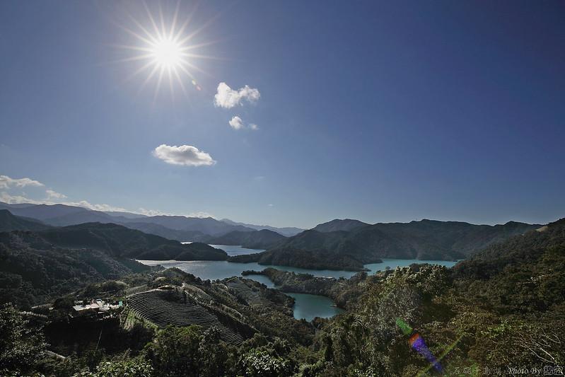 2014.11.22~逆光下的石碇千島湖太陽芒