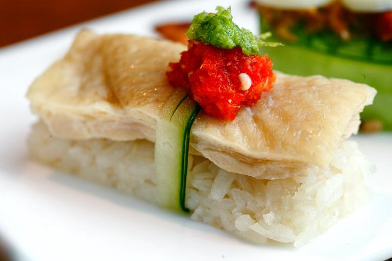 Hainanese Chicken Rice Sushi