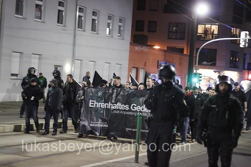 Neonaziaufmarsch in Magdeburg