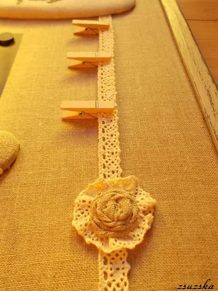 message board, la-d-da, roses, lace, cross stitch, painted frame, (6)