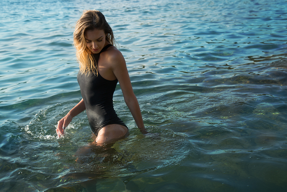 black-bodysuit-swimwear-sea