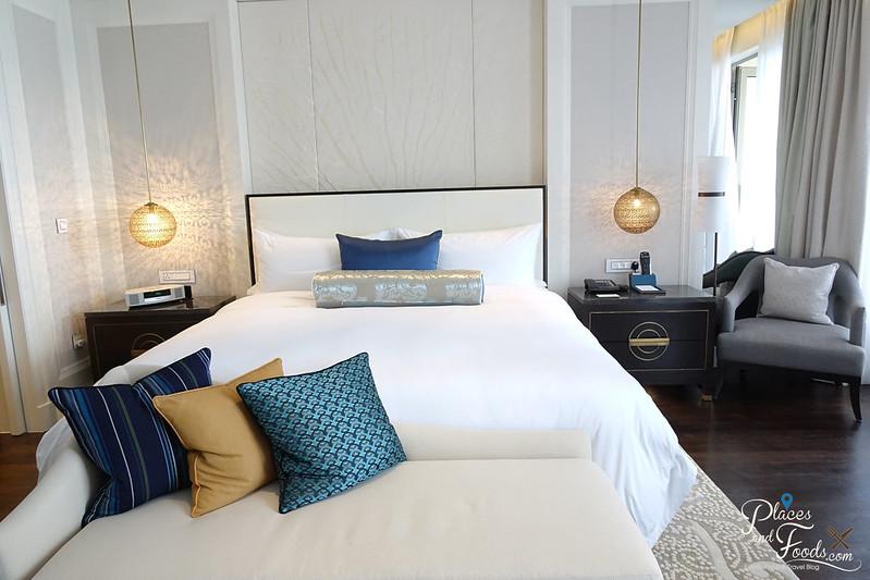 st regis langkawi andaman suite bed