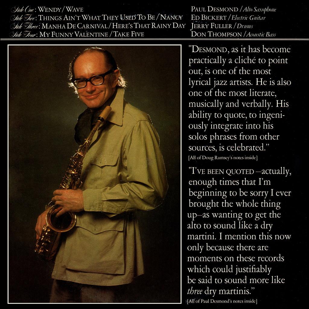 The Paul Desmond Quartet Live