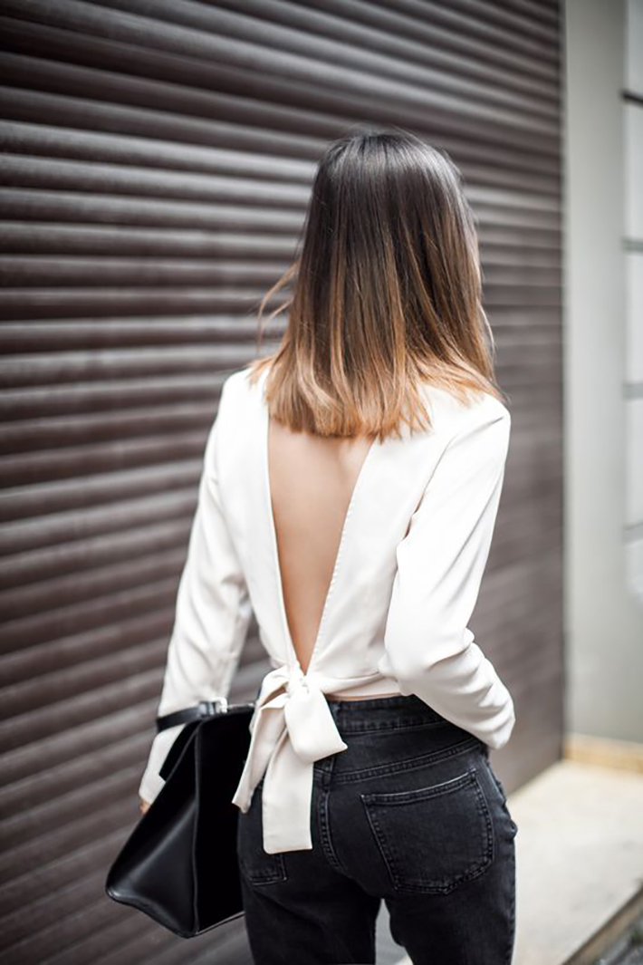 knotted shirt inspiration street style fashion outfit7