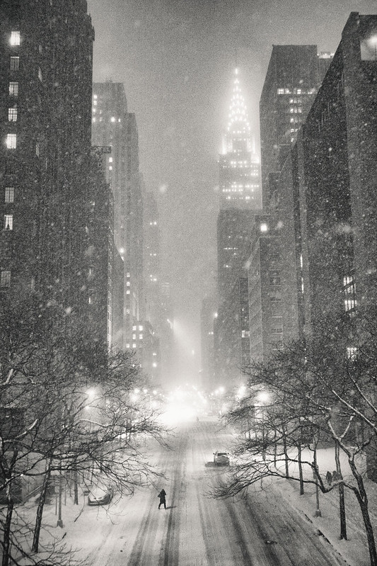 New York Winter - Snow and the Chrysler Building -