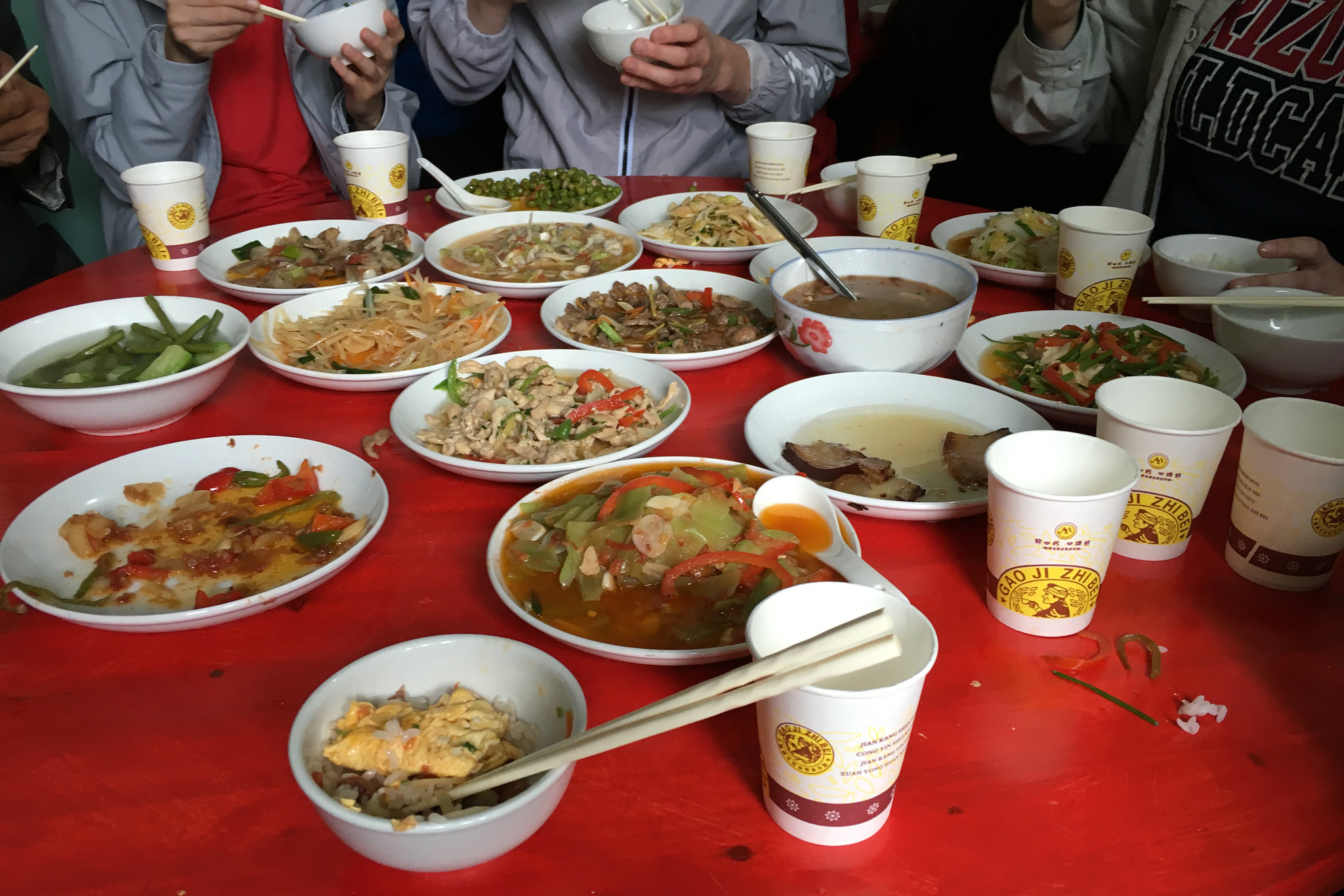 Lunch with Mr. Zhou's Family