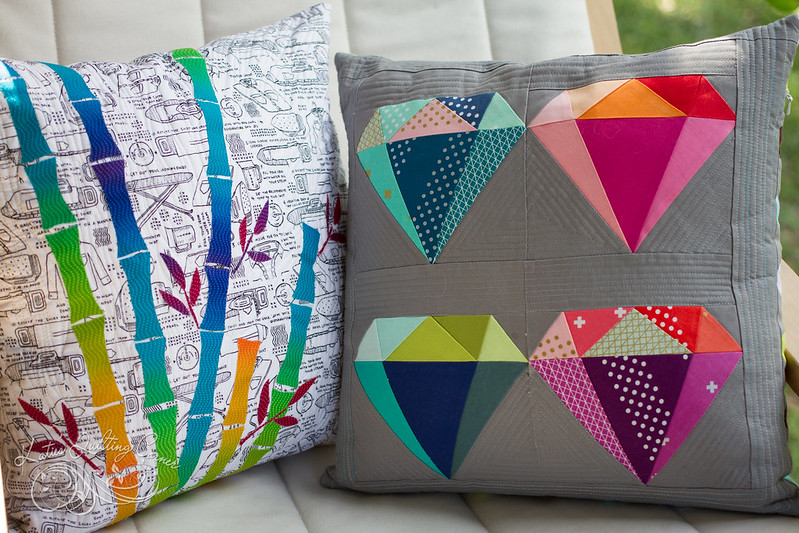 Quilted Pillows - Bamboo and Gemology