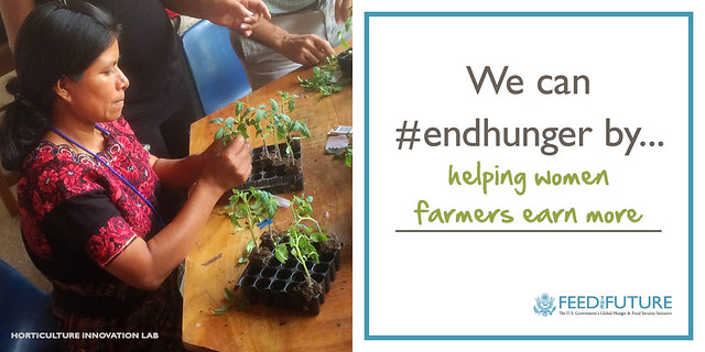 We can #endhunger by helping women farmers earn more