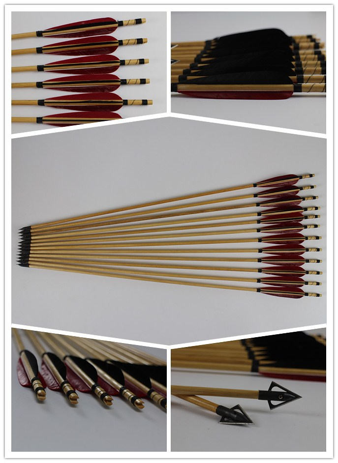 archery wooden hunting arrows