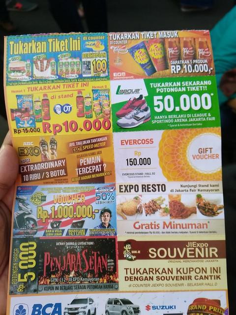 Tiket PRJ berlaku sebagai kupon