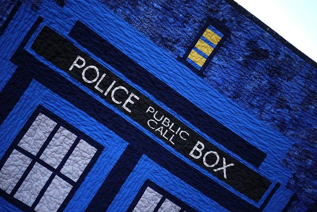 Wibbly Wobbly Tardis Quilt