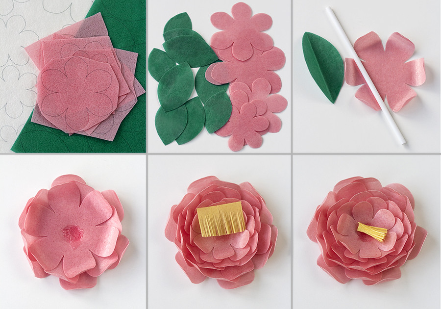 Paso a paso flores wafer paper
