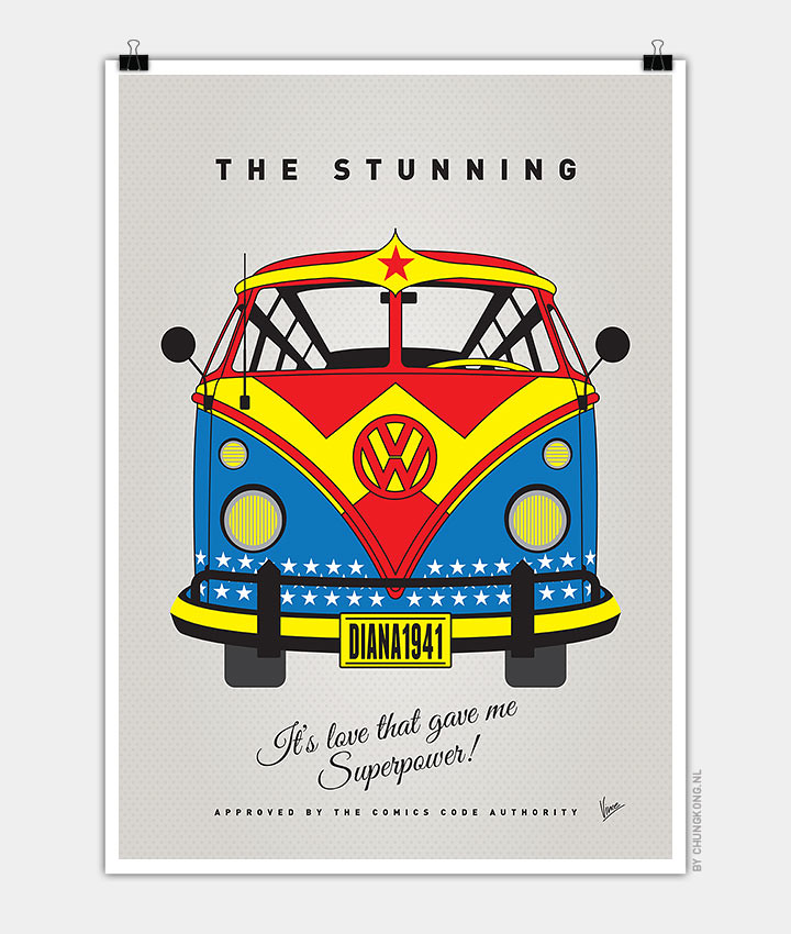 Volkswagen T1 superhero rides by Chungkong - Wonder Woman