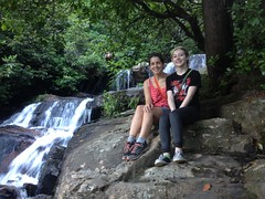 Kathryn and Iz at the top of Davis Creek Falls