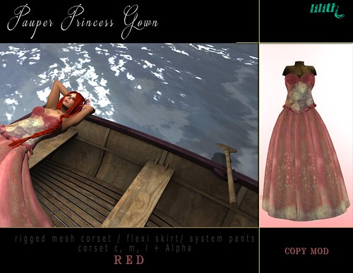 LD Pauper Princess Gown Red