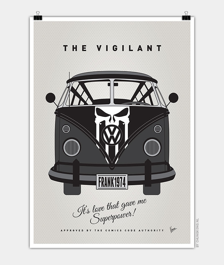 Volkswagen T1 superhero rides by Chungkong - The Punisher